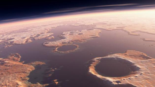科学家近日宣称他们找到了火星上一处陨石撞击坑,该撞击坑可能与火星古代的一次剧烈撞击事件有关,当时那场撞击引发火星上的一次强烈海啸,汹涌的海水横扫火星表面的大片区域