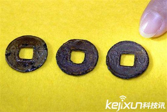 日本出土青铜币 系2000年前中国铸造