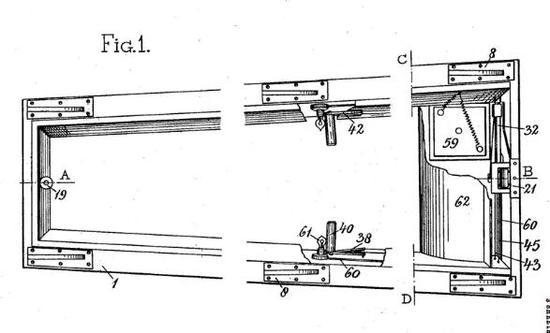 Johan Jacob Toolen设计的容易打开的棺材来源:GOOGLE PATENTS